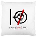 Twenty One Pilots Skull Standard Flano Cushion Case (One Side)