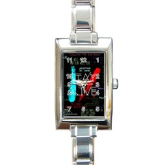 Twenty One Pilots Stay Alive Song Lyrics Quotes Rectangle Italian Charm Watch by Onesevenart