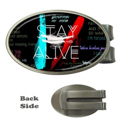 Twenty One Pilots Stay Alive Song Lyrics Quotes Money Clips (oval)  by Onesevenart