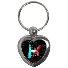 Twenty One Pilots Stay Alive Song Lyrics Quotes Key Chains (heart)  by Onesevenart