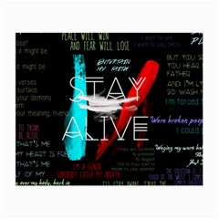 Twenty One Pilots Stay Alive Song Lyrics Quotes Small Glasses Cloth by Onesevenart