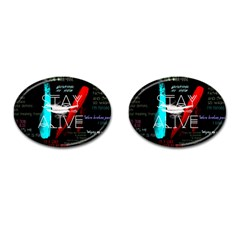 Twenty One Pilots Stay Alive Song Lyrics Quotes Cufflinks (oval) by Onesevenart