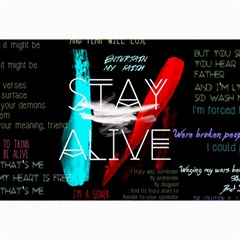 Twenty One Pilots Stay Alive Song Lyrics Quotes Collage Prints by Onesevenart