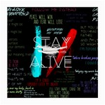 Twenty One Pilots Stay Alive Song Lyrics Quotes Medium Glasses Cloth (2-Side)