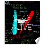 Twenty One Pilots Stay Alive Song Lyrics Quotes Canvas 11  x 14