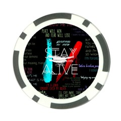 Twenty One Pilots Stay Alive Song Lyrics Quotes Poker Chip Card Guards by Onesevenart