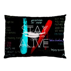 Twenty One Pilots Stay Alive Song Lyrics Quotes Pillow Case by Onesevenart