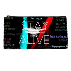 Twenty One Pilots Stay Alive Song Lyrics Quotes Pencil Cases by Onesevenart
