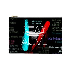 Twenty One Pilots Stay Alive Song Lyrics Quotes Cosmetic Bag (large)  by Onesevenart
