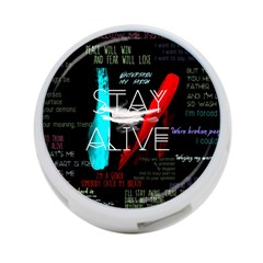 Twenty One Pilots Stay Alive Song Lyrics Quotes 4 Port Usb Hub (two Sides)  by Onesevenart