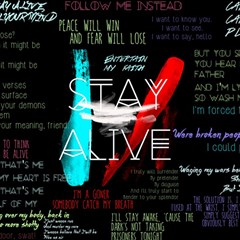 Twenty One Pilots Stay Alive Song Lyrics Quotes Magic Photo Cubes by Onesevenart