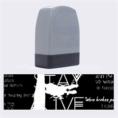 Twenty One Pilots Stay Alive Song Lyrics Quotes Name Stamps by Onesevenart