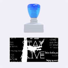Twenty One Pilots Stay Alive Song Lyrics Quotes Rubber Stamps (Medium)  by Onesevenart