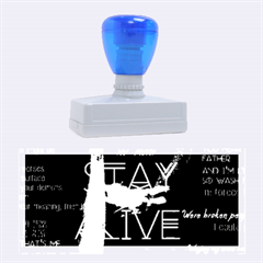 Twenty One Pilots Stay Alive Song Lyrics Quotes Rubber Stamps (large) by Onesevenart