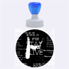 Twenty One Pilots Stay Alive Song Lyrics Quotes Rubber Round Stamps (large) by Onesevenart