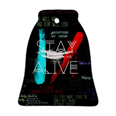 Twenty One Pilots Stay Alive Song Lyrics Quotes Ornament (bell)  by Onesevenart