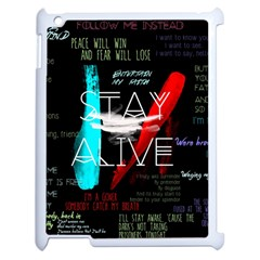 Twenty One Pilots Stay Alive Song Lyrics Quotes Apple Ipad 2 Case (white) by Onesevenart