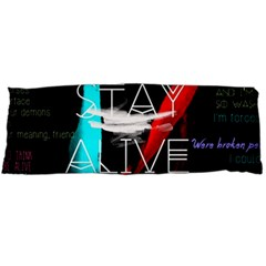 Twenty One Pilots Stay Alive Song Lyrics Quotes Body Pillow Case (dakimakura) by Onesevenart