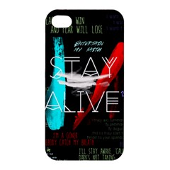Twenty One Pilots Stay Alive Song Lyrics Quotes Apple Iphone 4/4s Premium Hardshell Case by Onesevenart