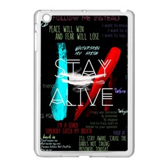 Twenty One Pilots Stay Alive Song Lyrics Quotes Apple Ipad Mini Case (white) by Onesevenart