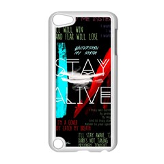 Twenty One Pilots Stay Alive Song Lyrics Quotes Apple Ipod Touch 5 Case (white) by Onesevenart