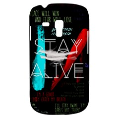 Twenty One Pilots Stay Alive Song Lyrics Quotes Samsung Galaxy S3 Mini I8190 Hardshell Case by Onesevenart