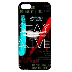 Twenty One Pilots Stay Alive Song Lyrics Quotes Apple Iphone 5 Hardshell Case With Stand by Onesevenart
