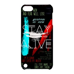 Twenty One Pilots Stay Alive Song Lyrics Quotes Apple Ipod Touch 5 Hardshell Case With Stand by Onesevenart