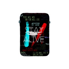 Twenty One Pilots Stay Alive Song Lyrics Quotes Apple Ipad Mini Protective Soft Cases by Onesevenart