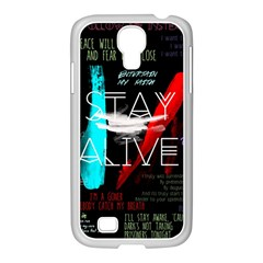 Twenty One Pilots Stay Alive Song Lyrics Quotes Samsung Galaxy S4 I9500/ I9505 Case (white) by Onesevenart