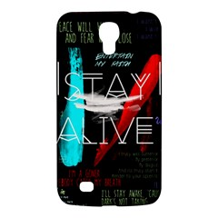 Twenty One Pilots Stay Alive Song Lyrics Quotes Samsung Galaxy Mega 6 3  I9200 Hardshell Case by Onesevenart
