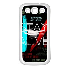 Twenty One Pilots Stay Alive Song Lyrics Quotes Samsung Galaxy S3 Back Case (white) by Onesevenart