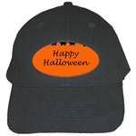 Happy Halloween - owls Black Cap Front