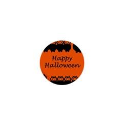Happy Halloween - owls 1  Mini Magnets