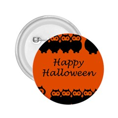Happy Halloween   Owls 2 25  Buttons
