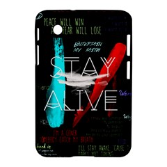Twenty One Pilots Stay Alive Song Lyrics Quotes Samsung Galaxy Tab 2 (7 ) P3100 Hardshell Case  by Onesevenart