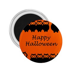Happy Halloween   Owls 2 25  Magnets