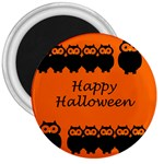 Happy Halloween - owls 3  Magnets Front
