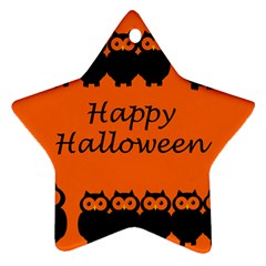 Happy Halloween   Owls Ornament (star)