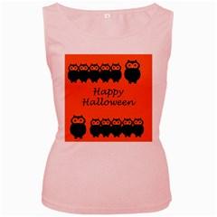Happy Halloween - owls Women s Pink Tank Top
