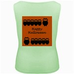 Happy Halloween - owls Women s Green Tank Top Back