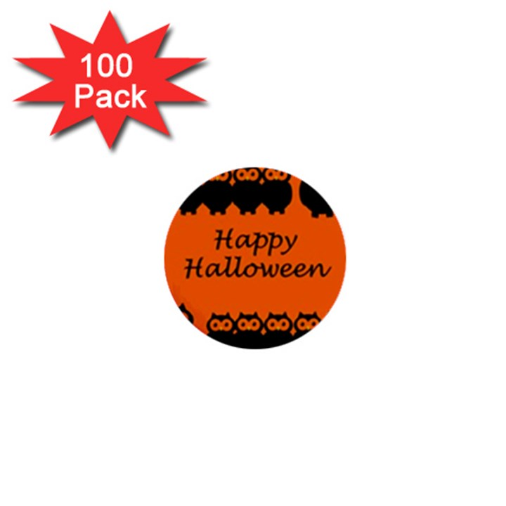 Happy Halloween - owls 1  Mini Buttons (100 pack)