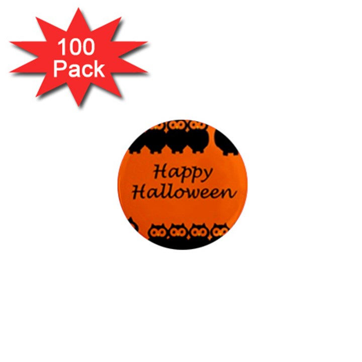 Happy Halloween - owls 1  Mini Magnets (100 pack)