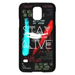 Twenty One Pilots Stay Alive Song Lyrics Quotes Samsung Galaxy S5 Case (Black)