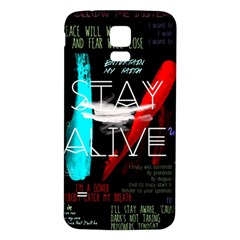 Twenty One Pilots Stay Alive Song Lyrics Quotes Samsung Galaxy S5 Back Case (white) by Onesevenart