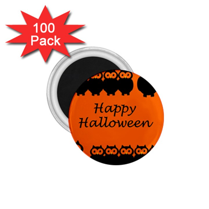 Happy Halloween - owls 1.75  Magnets (100 pack)