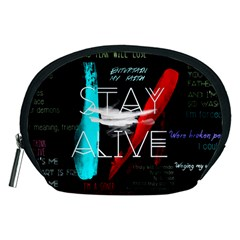 Twenty One Pilots Stay Alive Song Lyrics Quotes Accessory Pouches (medium)  by Onesevenart