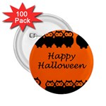 Happy Halloween - owls 2.25  Buttons (100 pack)  Front