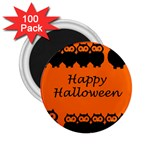 Happy Halloween - owls 2.25  Magnets (100 pack)  Front
