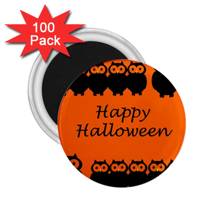 Happy Halloween - owls 2.25  Magnets (100 pack)